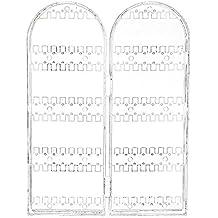 SODIAL(R)Joyeria soporte Puesto de Exhibicion Organizador Bastidor Plegado Plastico Pendientes Collar
