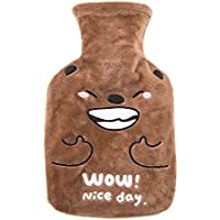 Preisvergleich für Wärmflasche mit superweichem niedlichen Plüschbezug | 500 ml Wärmflaschen | Design sicher und langlebig