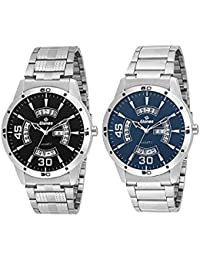 Gionee MRT-0137 Metal Strap Analog Wrist Watch Casual Formal Watch Combo Pack- For Mens (Pack Of 2) - Best Gift...