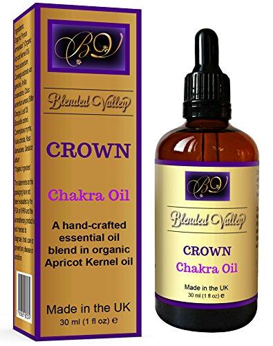 Myrrhe-duft-Öl (Blended Valley Chakra Öl CROWN - Ätherische Öle aus Weihrauch, Rose und Myrrhe im Aprikosenkernöl. Für Yoga, Meditation oder Aromatherapie. Für Aroma Diffuser, Räucherstäbchen Diffusor, Luftbefeuchter)