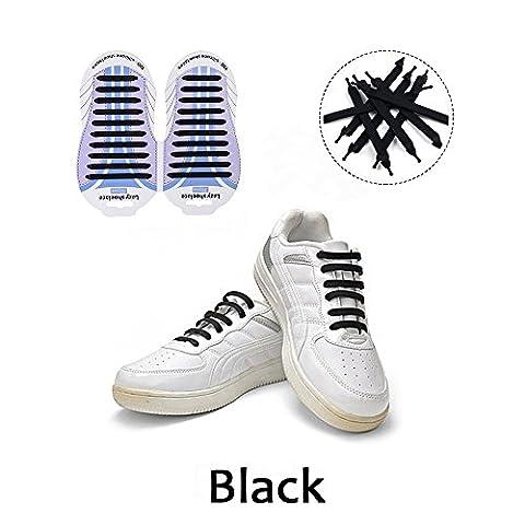 Lacets Elastique, Lacets Silicone Chaussures Etanche - No Tie Imperméables