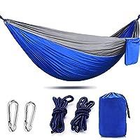 AIFUSI Camping Hammock Full Set Parachute Hammock with Set of Widened Tree Straps & Carbon