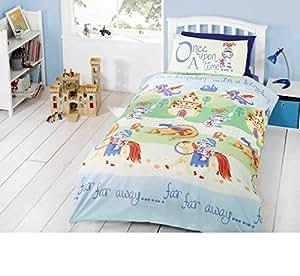 Camelot pour enfant Château de Chevalier Dragon Parure de lit pour lit Double avec housse de couette