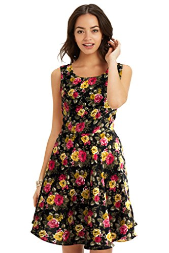western dresses for women Floral Black Skater Colour exclusive Dress ( All Size available )