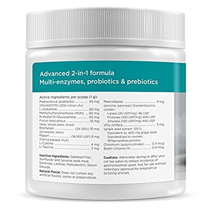 maxxipaws maxxidigest+ Probiotics, Prebiotics and Digestive Enzymes - Digestive and Immune Support Supplement for Cats – Powder 200 g 3