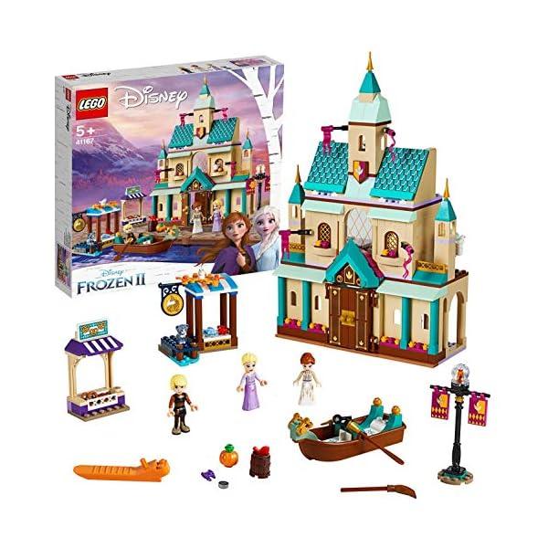 LEGO DisneyFrozenII IlvillaggiodelCastellodiArendelle con Mini-doll della Principessa Anna, Elsa e Kristoff,Mercato e Barca a Remi,Gatto e 2 Uccelli,Set di Costruzioni per Bambini, 41167 1 spesavip