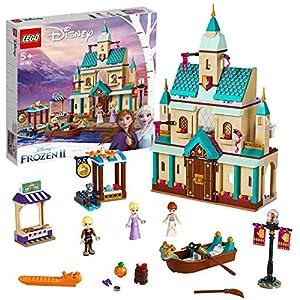 LEGO Disney Princess - Aldea del Castillo de Arendelle, Set de construcción Castillo de la Princesa Elsa, Incluye Minifiguras de Kristoff, Anna y un Gato (41167)