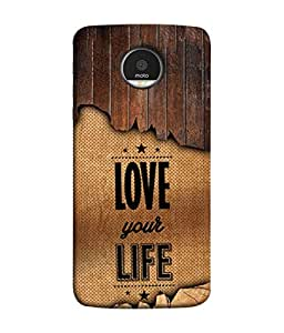 Motorola Moto Z Force, Motorola Moto Z Force Droid for USA Back Cover Love Your Life Design From FUSON