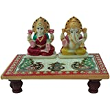 Marble Lakshmi Ganesh Chowki Handmade Handicraft For Home Decor Gift Item