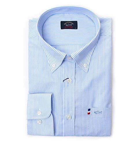 Paul & shark camicia uomo p18p3036100 azzurro