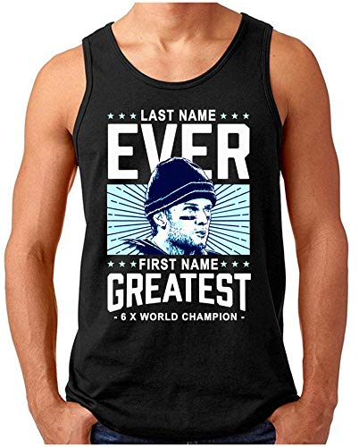 OM3® - Ever-Greatest - Tank Top | Herren | American Football MVP Legend Printshirt | Schwarz, M -