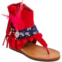 Toocool Mujer botas con flecos