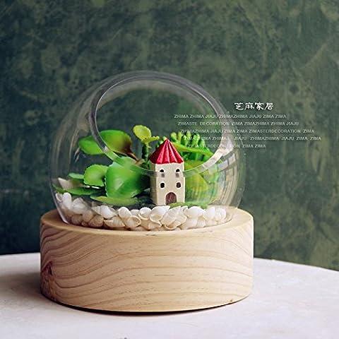Accueil sésame DIY ornements vase l'original micro-chandelier de bois fleurs paysages à la fin de la creative glass Vase,accueil petite