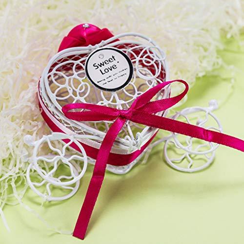TAOtTAO 1 stück neue süßigkeitskästen romantische wagen süßigkeiten pralinenschachtel hochzeit party favors candy box kleine objekt aufbewahrungsbox ornamente kürbis auto weißblech (B)
