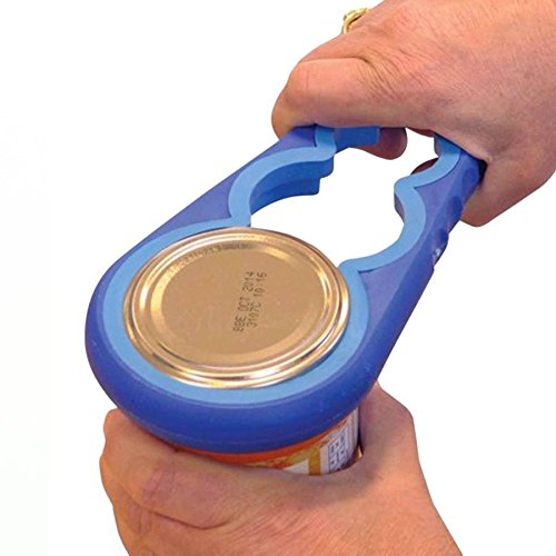 Cpixen Premium Easy Grip Jar Opener Fits Most Jar Sizes Supporting Those with Limited Hand Movement with Extra Leverage for Easy Opening (Blue)