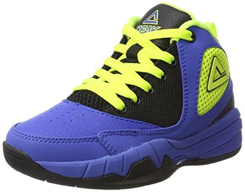 Peak Sport Europe Unisex-Kinder Basketball Shoe Monster Kids Basketballschuhe, Blau (Royal Yellow), 32 EU