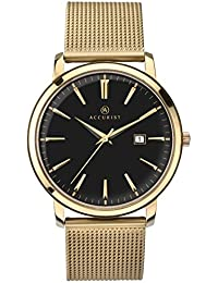 5965a0ba0 Accurist Unisex-Adult Watch, Analogue Classic Display and Gold Plated Strap  7210.01