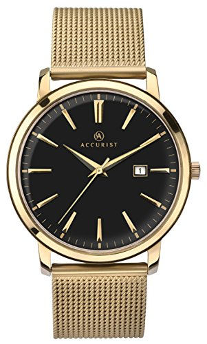 Accurist Unisex-Adult Watch, Analogue Classic Display and Gold Plated Strap 7210.01