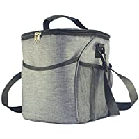 5ALL Cooling Bag Cooler Lunch Bag Foldable Insulated Picnic Bag Thermal Camping Bag Insulated Box Picnic Bag for Food Transport, Green