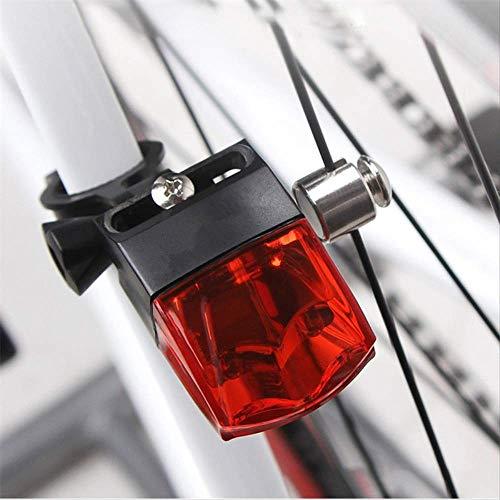 hhxiao LED Fahrradlicht Fahrrad Zubehör Fahrrad Lichter Induktion Rücklicht Fahrrad Fahrrad Warnlampe magnetisch generieren wasserdichte Rücklicht