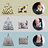 Foldable Shopping Bags - Eco-Friendly Reusable Grocery Bags for Shopping Organizing, 3 Pack (Dog, Cat, Owl)