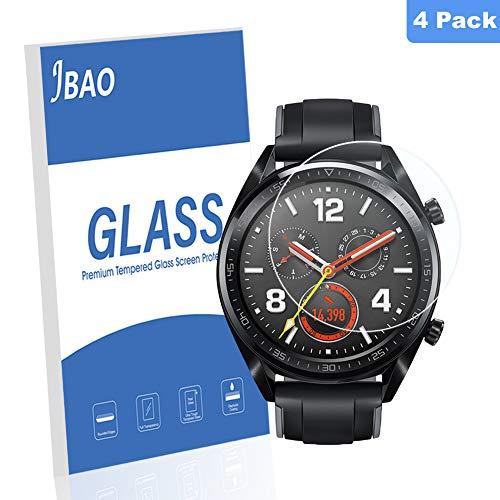 Janmitta Panzerglas Schutzfolie für Huawei Watch GT Elegant/Huawei Watch GT 1.2 inch(42mm), Folie Schutz 9H Härtegrad Gehärtetem Glas 2.5D Bildschirmschutzfolie[Anti-Schock ] [Anti-Kratz] (4 Stück)