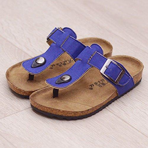 Tongs Multicolores Mixte Enfant - Mules Garçon - Sandales Chaussons pour Fille Bleu