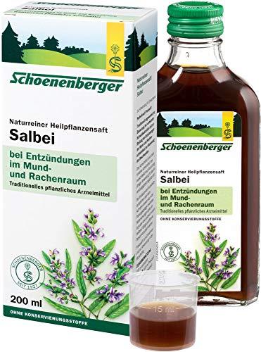 Schoenenberger Bio Naturreiner Heilpflanzensaft Salbei (2 x 200 ml)