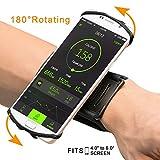 Overmont Universell Sport Armband 180° Drehbar Handgelenk Handytasche Handyhalterung für iPhone X/iPhone8 Plus/8/7Plus/6 Plus/6, GalaxyS8/S8Plus/S7 Edge für Joggen Laufen Fitness Navigation Radfahren
