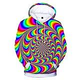 R-Cors✮ Unisex 3D Grafikdruck Realistische Casual Langarmshirts Übergroße Warme Hoodies Beiläufige Lose Pullover Sweatshirt Outwear