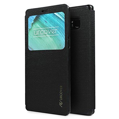 Urcover® View Case kompatibel mit Samsung Galaxy Note 8 Hülle, Wallet mit [ Standfunktion ] Schutzhülle Cover Etui Ständer Aufsteller Handyhülle Schwarz