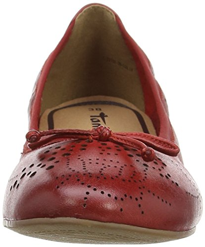 Tamaris - 22132, Ballerine Donna Rosso (Rot (CHILI 533))