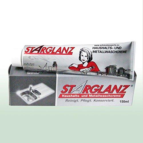 STARGLANZ Metallwaschcreme Haushaltscreme Metallcreme Reinigungscreme Pflegecreme - 1 Tube à 150 ml (Messing Toaster)