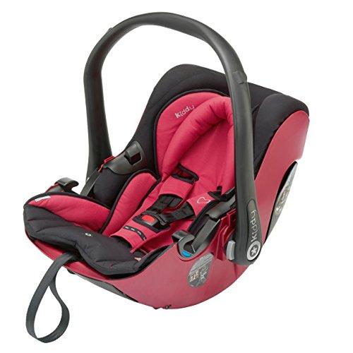 Kiddy 41900EV055B Evolution Pro Babyschale, Liegefunktion, Isofix-fähig, Gruppe 0+ (0-13 kg, Geburt-ca. 15 Monate), Cranberry (dunkelrot)
