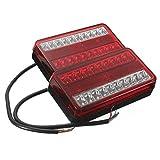 LKW Heckleuchte - SODIAL(R)2x 20 LED Heckleuchte Auto LKW Anhaenger Bremsen Hintere Endstueck Indicator Light (Rot, Gelb)