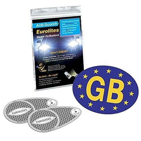 Gb euro sticker + Headlamp beam deflectors converters..