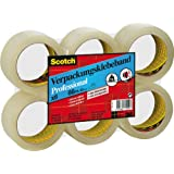 Scotch PP5066T6 Verpackungsklebeband PP, lösungsmittelfrei, 66 m x 50 mm, 6 Rollen Folienverpakung, transparent