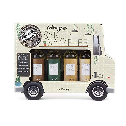 Modern Gourmet Foods - Kaffee Sirup Geschenkset - 4 individuelle Geschmacksrichtungen - Kaffee Sirup Truck