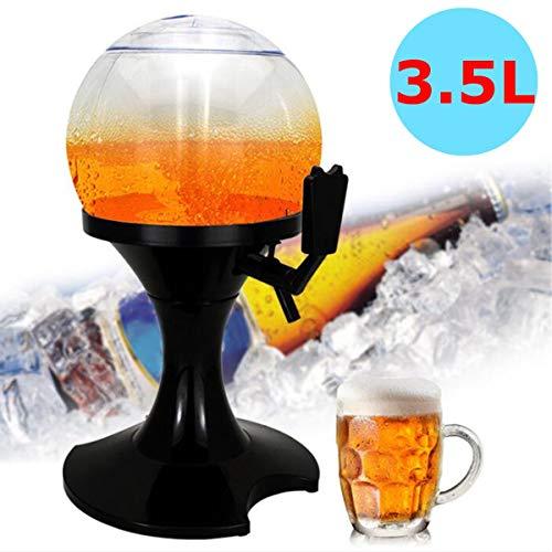 Jadeshay Dispensador de Bebidas frías 3.5L Tubo de Hielo Jugo de la máquina Contenedor BBQ Party Bar Accesorios