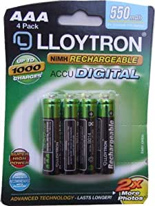 1 x UKDapper - Lloytron AAA 550 mAh Rechargeable Batteries (Pack of 1)