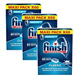 Finish Classic Détergent Lave-Vaisselle Bicarbonate 60 Tablettes - Lot de 3