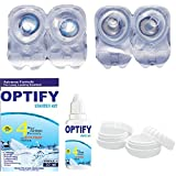 Optify Combo Sea blue & Grey Pack Monthly Contact Lens (0, Sea Blue, Grey, Pack of 4)
