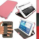igadgitz Case Cover - Funda para tablet Samsung Galaxy Tab 3 7.0 (soporte de sobremesa, correa de mano), rosa