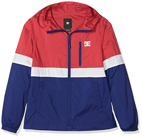 DC Shoes Dagup Triple Block Windbreaker, Kinder S tango rot - solid (Shoes Dc Block)