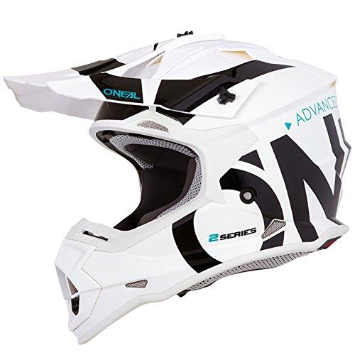O'Neal 2Series Slick Kinder Motocross Helm Enduro MX Gelände Quad Cross Motorrad Bike Schutz, 0200-SYouth, Farbe Weiß, Größe S (Nasenschutz Helm Motorrad)