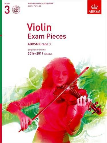 Violin Exam Pieces 2016-2019, ABRSM Grade 3, Score, Part & CD Cover Image