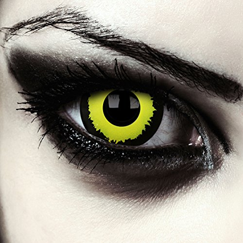 Lentillas de contacto de color amarillo para cosplay