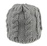 Gorro de punto suave para bebés y niñas, cálido, para invierno, hasta 24 meses gris oscuro Talla:talla única