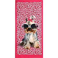 meowtastic Outdoor Beach Towel Quick Dry 27.5 by 60 Inches Biewer Terrier Print Bath Towel Pool Towels