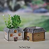 New Garden Decoration Mini Resin Flower pot de fleur Personalized Microcosmic artesanato Flowerpot B